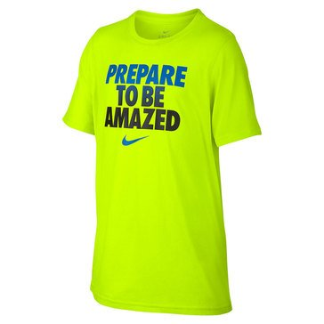 Nike Big Boys' To be Amazed Dry Tee, Yellow