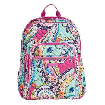 Vera Bradley Iconic Campus Backpack Wildflower Paisley