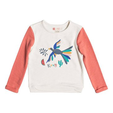 Roxy Little Girls' Gonna Win Birdy Bird Crew, Porcelain Rose