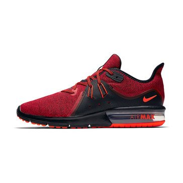 Nike Air Max Sequent 3 Men's Running Shoe Black/TotalCrimson/UnitversityRed