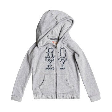 Roxy Little Girls' Holding On Zip Hoodie, Grey