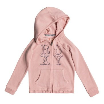 Roxy Little Girls' Holding On Zip Hoodie, Mellow Rose