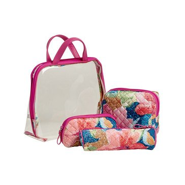 Vera Bradley Iconic 4 Piece Cosmetic Set Superbloom
