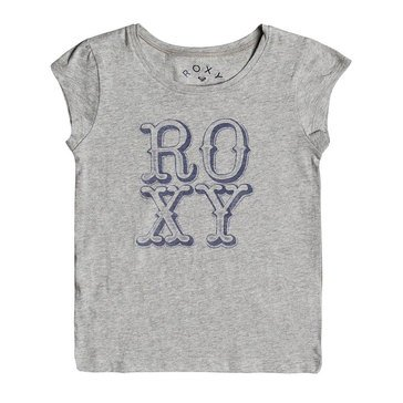 Roxy Little Girls' My Sun My Earth Tee, Grey