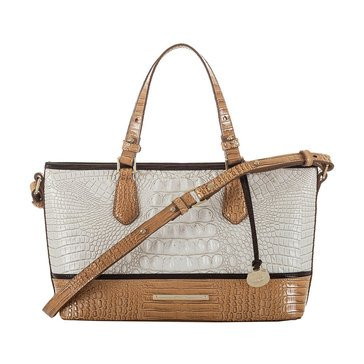 Brahmin Mini Asher Satchel Coconut Kedima