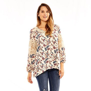 Skye's The Limit Women's Nordic Floral Tunic Top