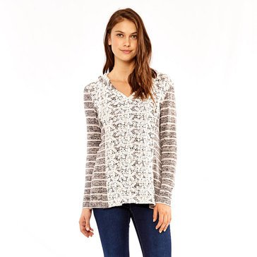Skye's The Limit Women's Textured Striped Sweatshirt