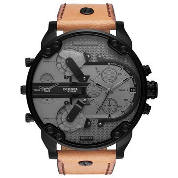 Diesel Men's Mr. Daddy 2.0 Brown Leather Chronograph Watch, 57mm