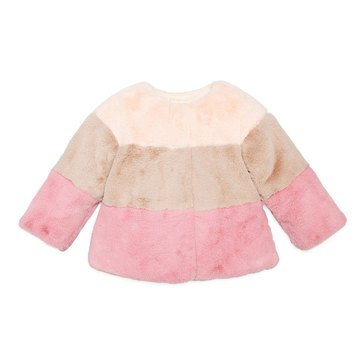 First Impressions Baby Girls' Pieced Fur Jacket