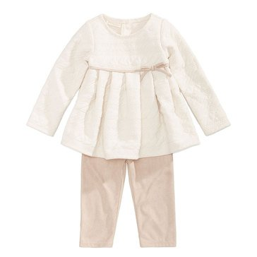 First Impressions Baby Girls' Jacquard Tunic Set