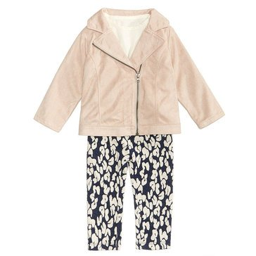 First Impressions Baby Girls' Suede Jacket Set