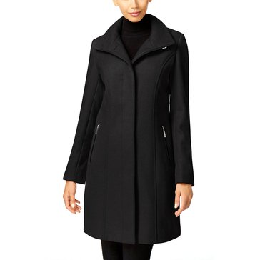 Kenneth Cole Women's Wool Stand Collar Coat