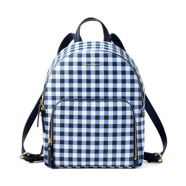 Kate Spade Hyde Lane Gingham Hartley Backpack Navy White