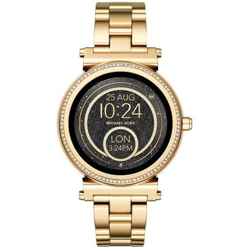 Michael Kors Women's Sofie Gold Tone Smartwatch, 42mm