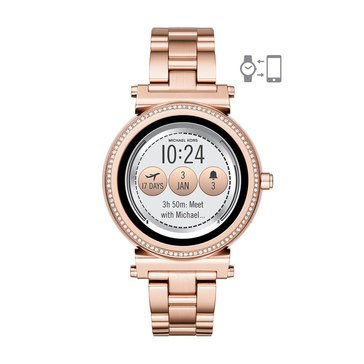 Michael Kors Women's Sofie Rose Gold Tone Smartwatch, 42mm