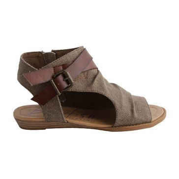 Blowfish Balla Low Wedge Sandal Brown