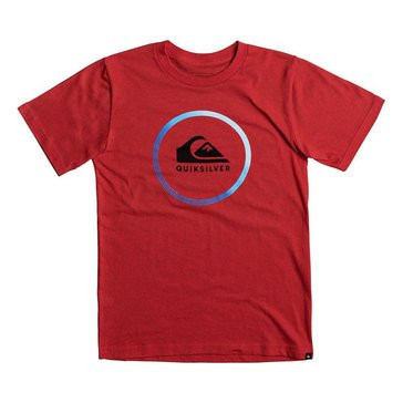 Quiksilver Big Boys' Active Logo Tee, Red