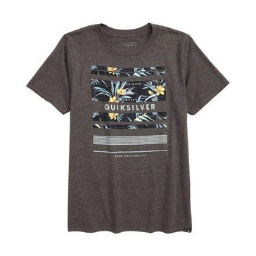Quiksilver Big Boys' Stinger Tee, Charcoal