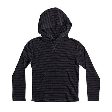 Quiksilver Big Boys' Ocean Surface Hooded Knit, Charcoal