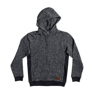 Quiksilver Big Boys' Keller Zip Hoodie, Grey
