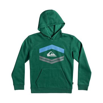 Quiksilver Big Boys' New Port Roca Pullover Hoodie, Green