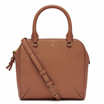 Tory Burch Robinson Pebbled Mini Satchel Tiger's Eye