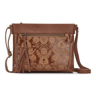 The Sak Sanibel Mini Crossbody Tobacco Floral Emboss