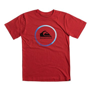 Quiksilver Little Boys' Active Logo Tee, Red