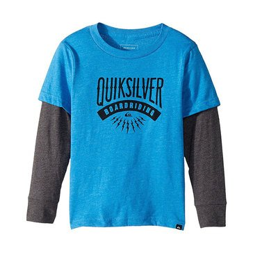 Quiksilver Little Boys' Sunset 2fer Tee, Blue