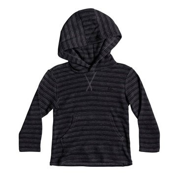 Quiksilver Little Boys' Ocean Surface Hooded Knit, Charcoal