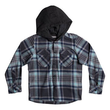 Quiksilver Little Boys' Hooded Tang Flannel, Blue