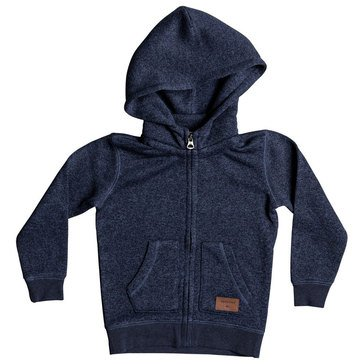 Quiksilver Little Boys' Kelller Zip Fleece, Navy