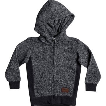 Quiksilver Little Boys' Keller Zip Fleece, Dark Grey