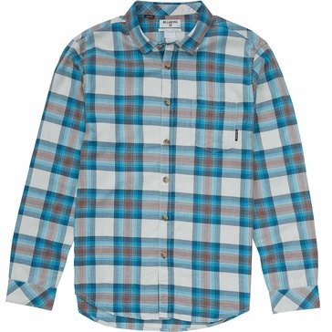 Billabong Big Boys' Freemont Flannel, Silver