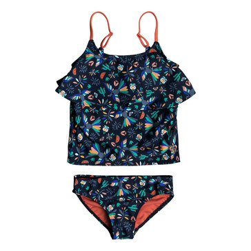 Roxy Little Girls' 2-Piece Scalloped Hem Birdy Tankini
