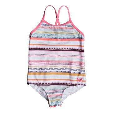 Roxy Little Girls' 1-Piece Indi Criss-Cross Back Swimsuit