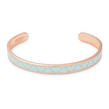 Alex and Ani Teal Heart Color Infusion Cuff, Shiny Rose Gold Finish
