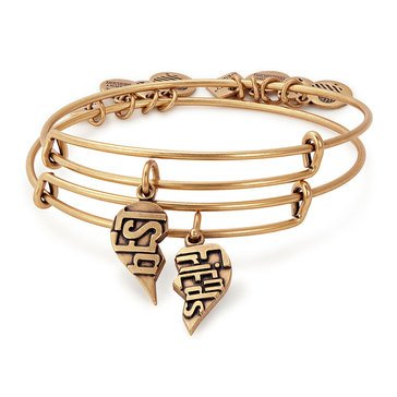 Alex and Ani Charity By Design Best Friends Set of 2 Expandable Bangle, Gold Finish