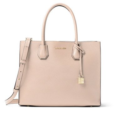 Michael Kors Mercer Large Convertible Tote Double Sided Pebble Soft Pink