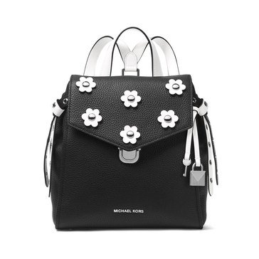 Michael Kors Bristol Small Backpack Pebble Leather Black/Optic White