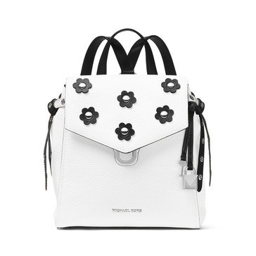 Michael Kors Bristol Small Backpack Pebble Leather Optic White/ Black