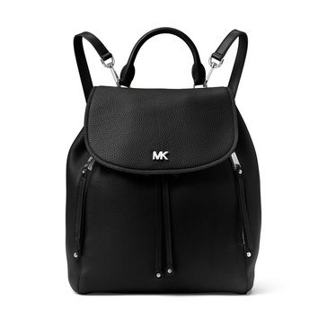 Michael Kors Evie Medium Backpack Pebble Black