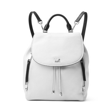 Michael Kors Evie Medium Backpack Colorblock Pebble Optic White/Black