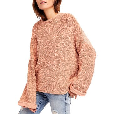 FREE PEOPLE SWTR CUDDLE UP PULLOVER ROSE