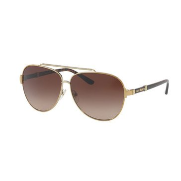 Tory Burch Women's Gold Brown Gradient Sunglasses 59mm