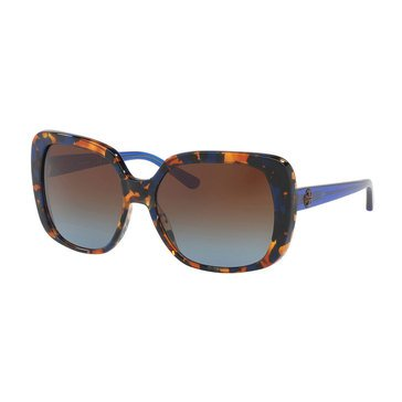 Tory Burch Women's Blue Flake Tortoise Blue/Brown Gradient Sunglasses 57mm