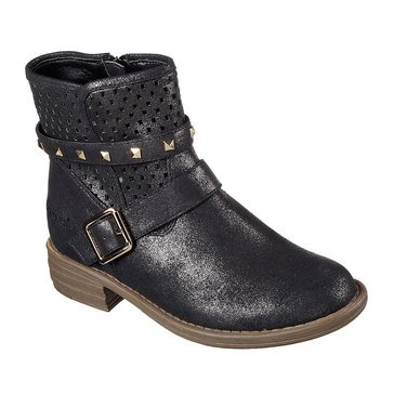 Skechers Kids Mad Dash -Perfect Pizazz - Girl's Casual Boot- Black