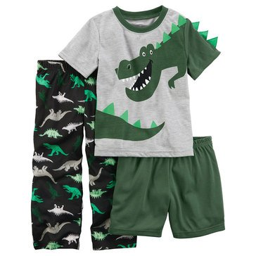 Carter's Toddler Boys' Green Trex 3PC Pajamas, Printed