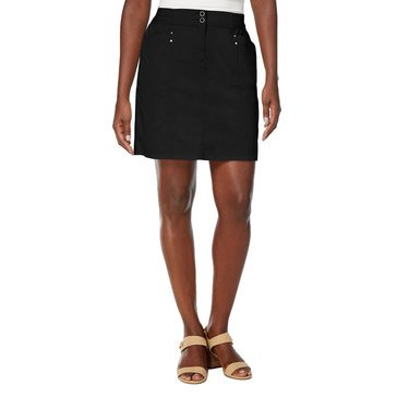 Karen Scott Women's Knit Waistband Woven Skort