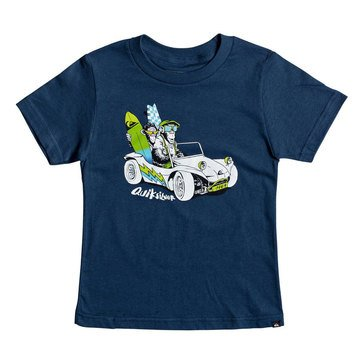 Quiksilver Little Boys' Full and Full Estate Short Sleeve Tee, Blue